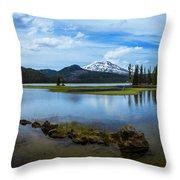 Sparks Lake, Oregon Throw Pillow
