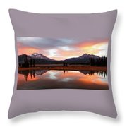 Sparks Lake Sunrise Throw Pillow