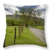 Sparks Lane In Cade Cove Throw Pillow