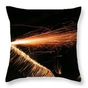 Sparks Will Fly Throw Pillow