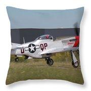 Sparky Takeoff Throw Pillow