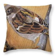 Sparrow 1 Throw Pillow