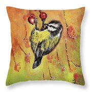 Sparrow - Bird Throw Pillow
