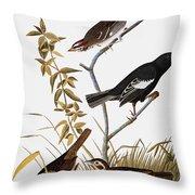 Sparrows Throw Pillow by John James Audubon