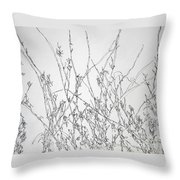 Sparsely Beautiful Throw Pillow