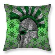 Spartan Helmet Throw Pillow