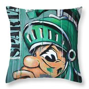 Spartans Throw Pillow by Julia Pappas