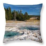 Spasmodic Geyser Throw Pillow