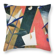 Spatial Force Construction Throw Pillow