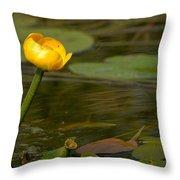 Spatterdock Throw Pillow