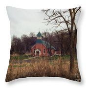 Spaulding Church Throw Pillow