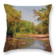 Spavinaw Creek Throw Pillow