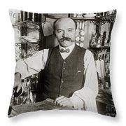 Speakeasy Bartender Throw Pillow by Jon Neidert