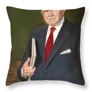 Speakers Of The United States House Of Representatives, Jim Wright, Texas Throw Pillow by Celestial Images