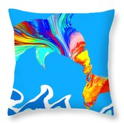 Speaking With Dolphins Throw Pillow