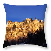 Spearfish Canyon National Scenic Byway Throw Pillow