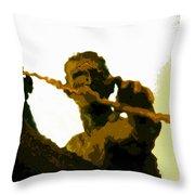 Spearfishing Man Throw Pillow