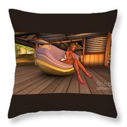 Specific Action Sport Throw Pillow