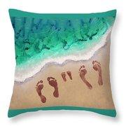 Speck Family Beach Feet Throw Pillow