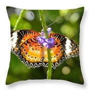 Speckled Butterfly Throw Pillow