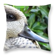 Speckled Duck Throw Pillow