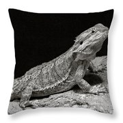 Speckled Iguana Lizard Throw Pillow