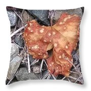 Speckled Leaf Throw Pillow