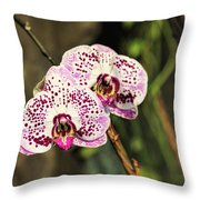 Speckled Orchids Throw Pillow