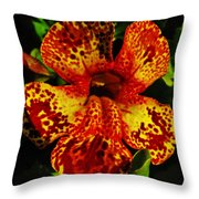 Speckled Petunia Throw Pillow