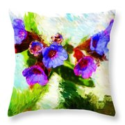 Speckled Trout The Flower Throw Pillow