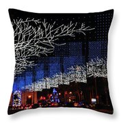 Spectacular Christmas Lighting In Madrid, Spain Throw Pillow