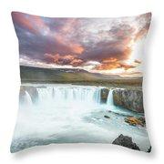 Spectacular Godafoss Throw Pillow