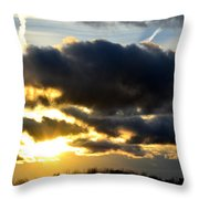Spectacular Sunrise In Clouds Throw Pillow