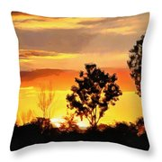 Spectacular Sunset In The Midwest Throw Pillow