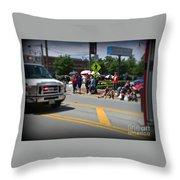 Spectators At A Parade  Throw Pillow