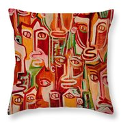 Spectators. Confident. Throw Pillow