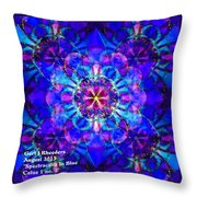 Spectracalia In Blue Catus 1 No. 2 H A Throw Pillow