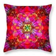 Spectracalia In Red - Catus 1 No. 1 H B Throw Pillow