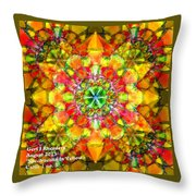 Spectracalia In Yellow Catus 1 No. 3 H A Throw Pillow