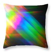 Spectral Blur Throw Pillow