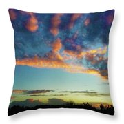 Spectral Drifter Throw Pillow