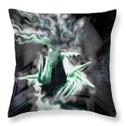 Spectral Invitation Throw Pillow