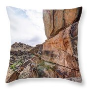 Spectral Light On The Cliffside Throw Pillow