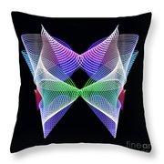 Spectrum Butterfly Throw Pillow