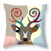 Spectrum Deer Throw Pillow
