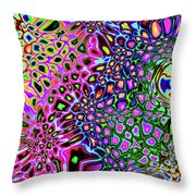 Spectrum Of Abstract Shapes Throw Pillow
