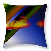 Spectrum Of Roses Throw Pillow