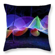 Spectrum Trees Throw Pillow