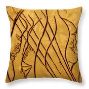 Speech Trails - Tile Throw Pillow