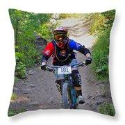 Speeding Down #101 Throw Pillow